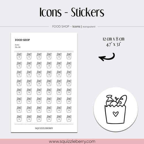 transparent icon minimal stickers food shop