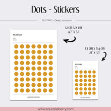 Load image into Gallery viewer, Mustard - Dots - Stickers