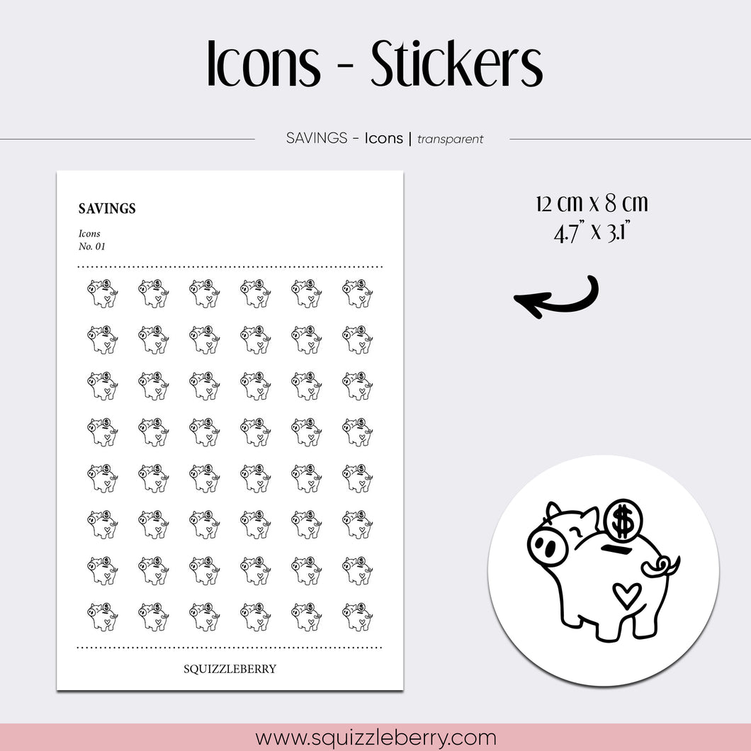 transparent icon minimal stickers savings