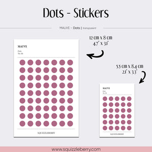 mauve sticker dots