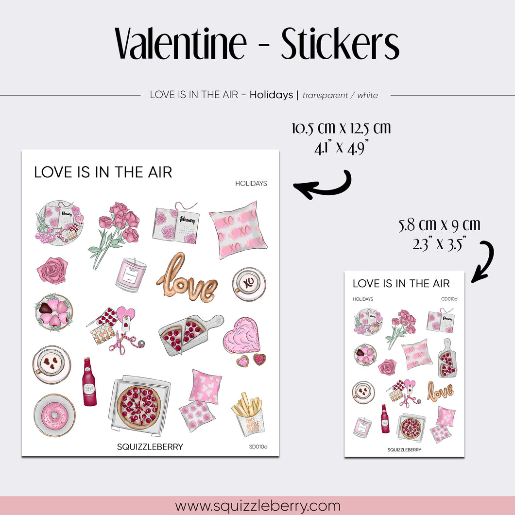 Valentine - Stickers | SquizzleBerry