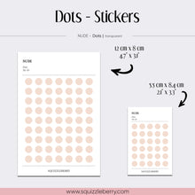 Load image into Gallery viewer, nude transparent planner stickers