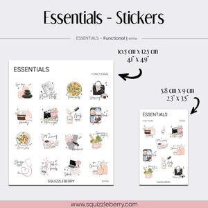 Essentials - Stickers | SquizzleBerry
