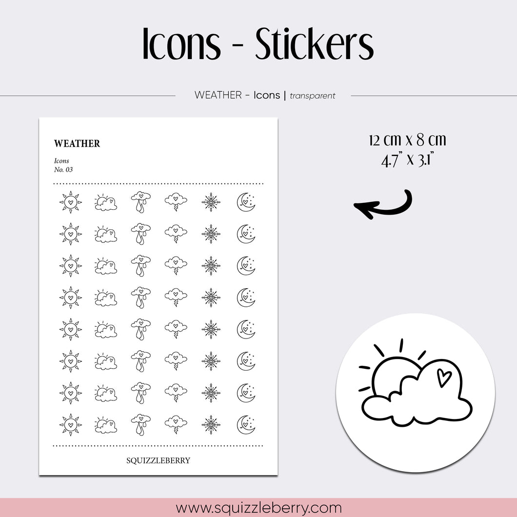 transparent icon minimal stickers weather