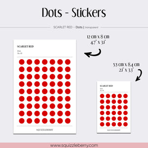 red sticker dots minimalist