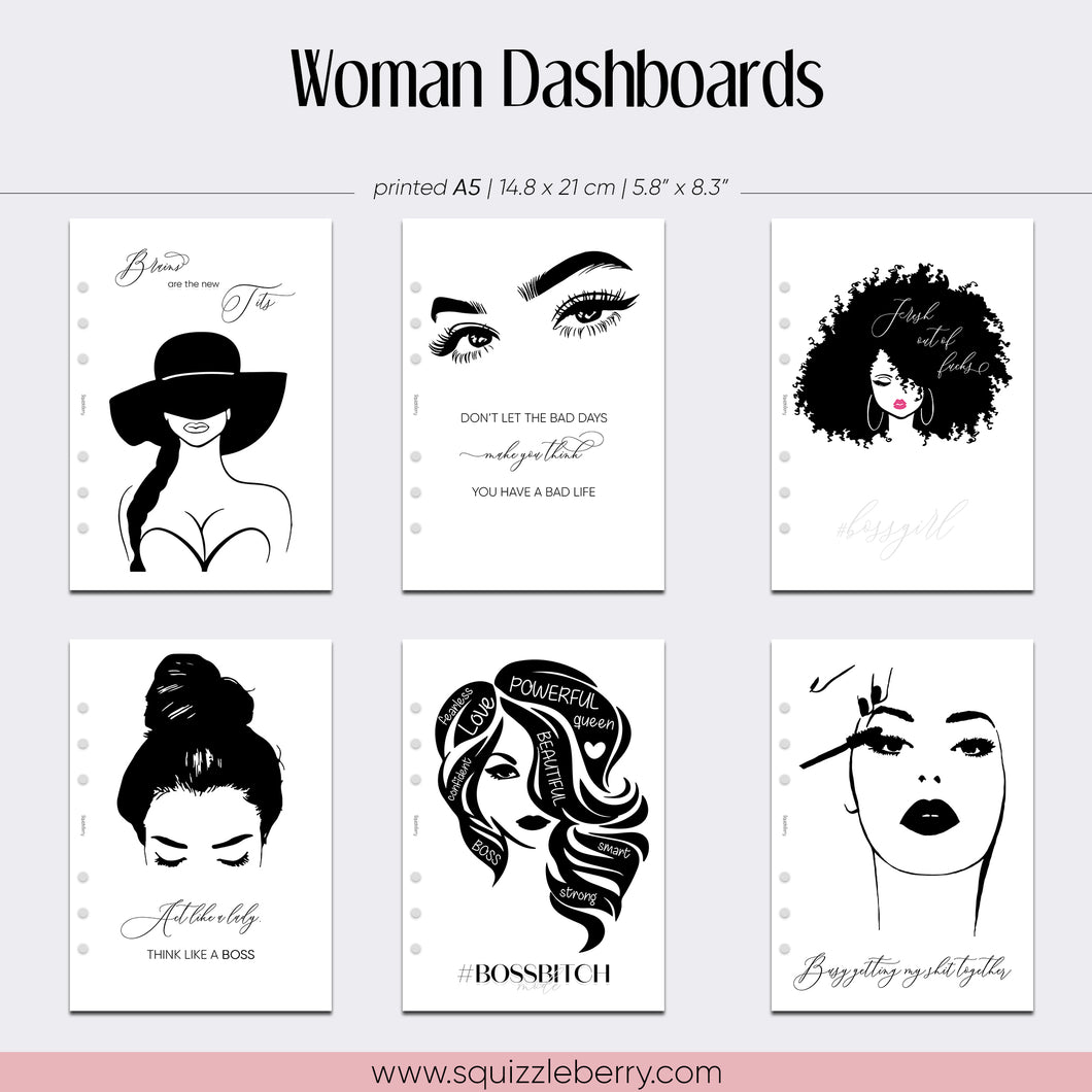 Woman Dashboard - A5 | SquizzleBerry