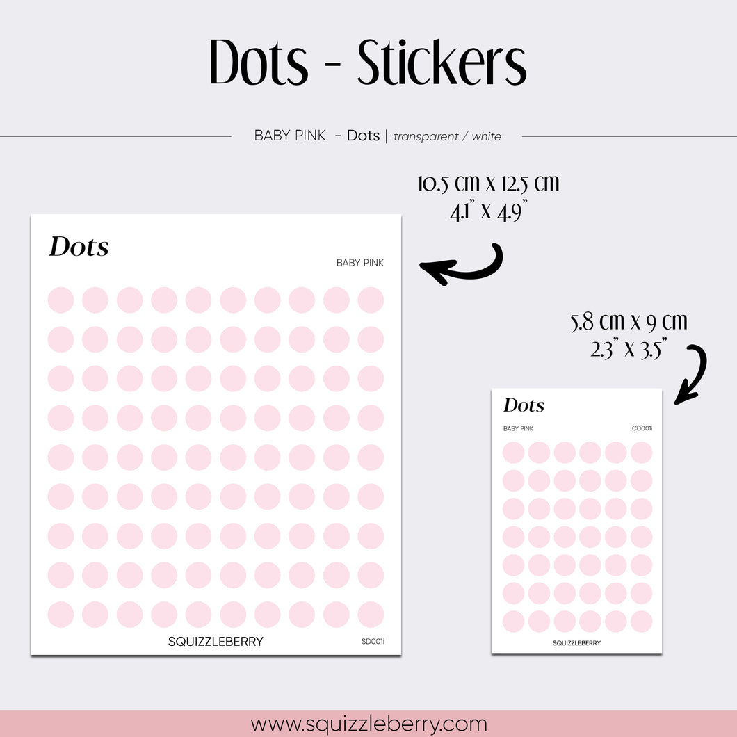 Baby Pink Dots - Stickers | SquizzleBerry