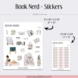 Book Nerd - Stickers