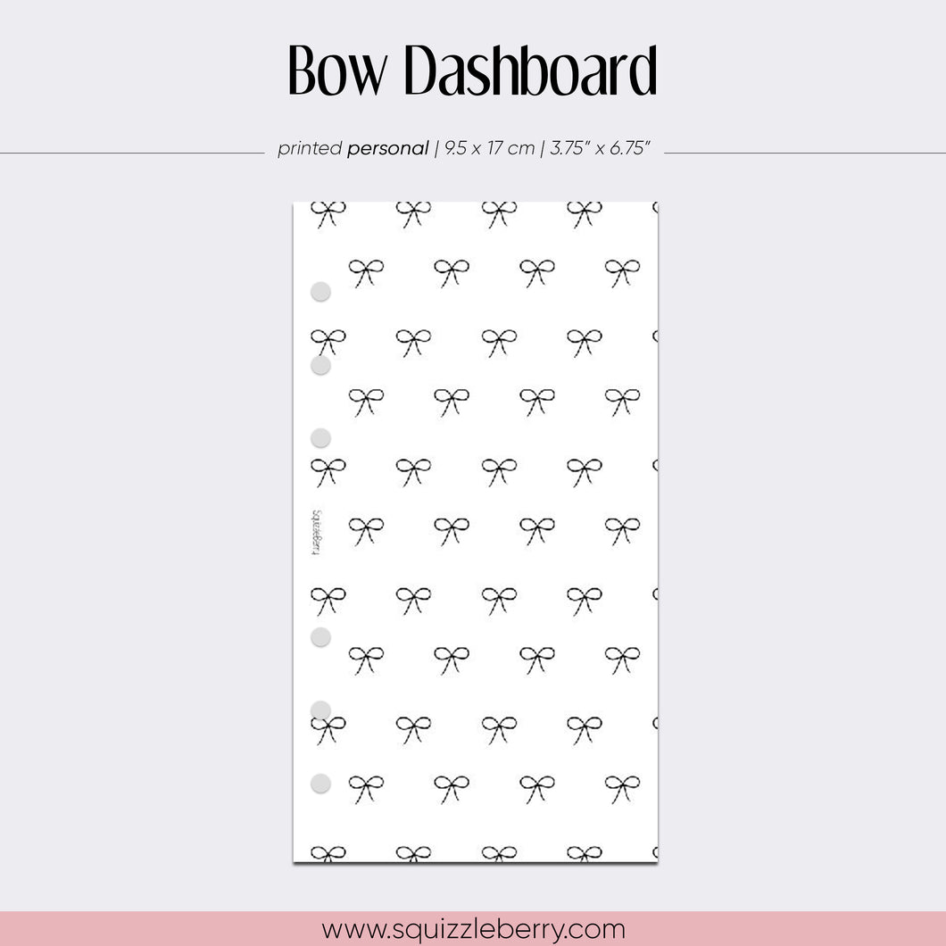 vellum bow dashboard personal size