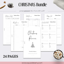 Load image into Gallery viewer, christmas planner inserts minimalist personal planning