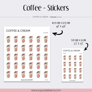 Coffee & Cream - Stickers
