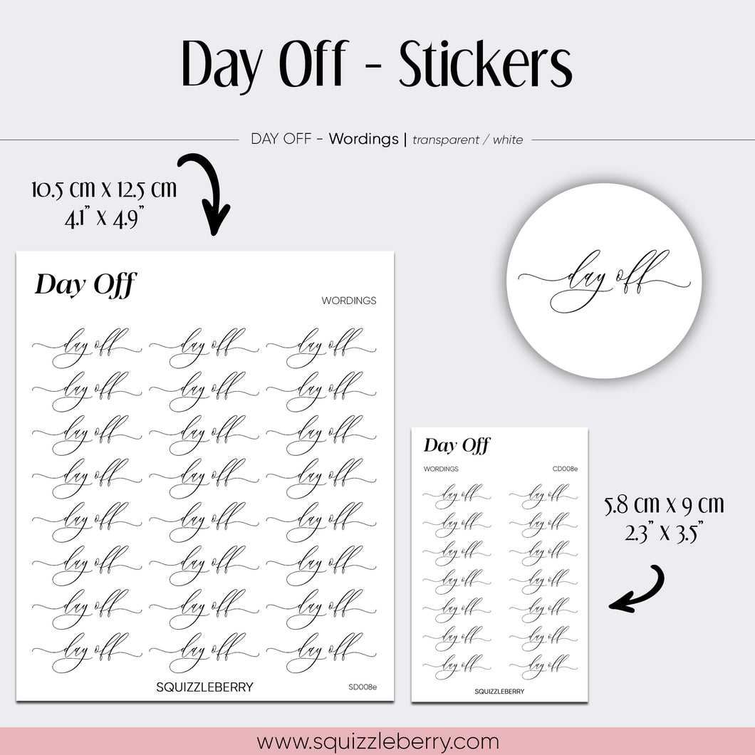 Day Off - Stickers