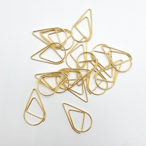 Gold - Tear Drop - Paper Clips | SquizzleBerry