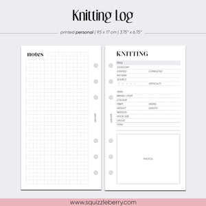 Knitting Log - Personal