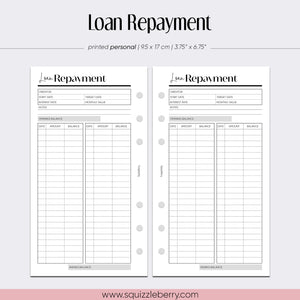 Loan Repayment - Personal | SquizzleBerry