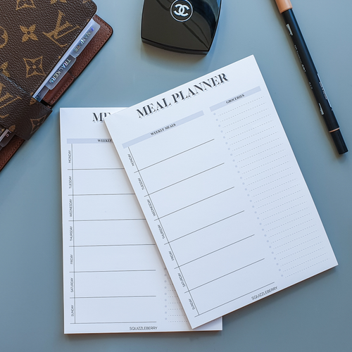 Weekly Meal Planner - A5 Notepad | SquizzleBerry