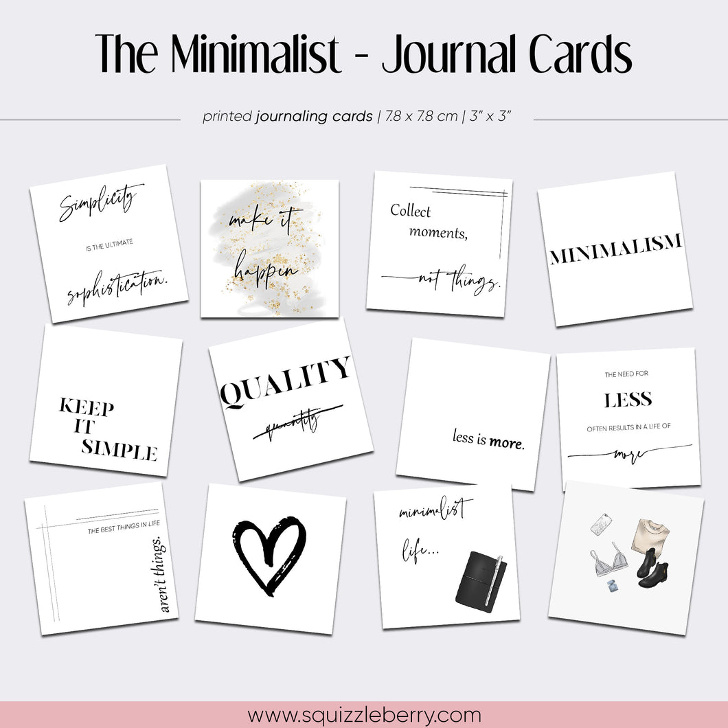 The Minimalist - Journal Cards
