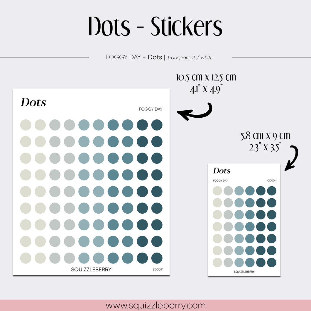 Moss Green Dots - Stickers | SquizzleBerry