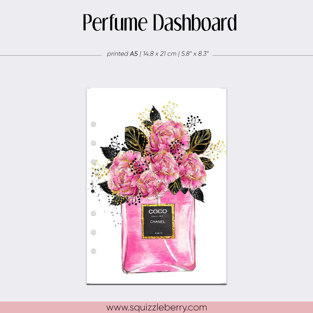 Perfume Vellum Dashboard - A5 | SquizzleBerry