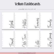 Load image into Gallery viewer, Transparent Vellum Dashboards - A5 | SquizzleBerry