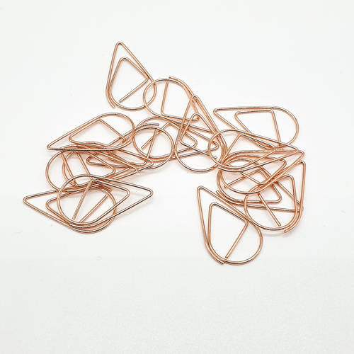 Rose Gold - Tear Drop - Paper Clips | SquizzleBerry