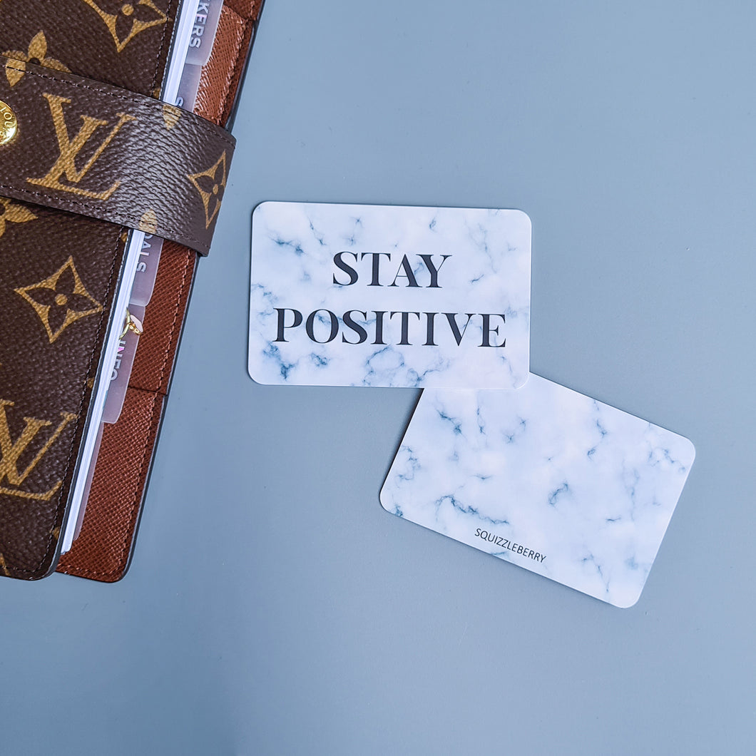 Stay Positive - Pocket Card | SquizzleBerry