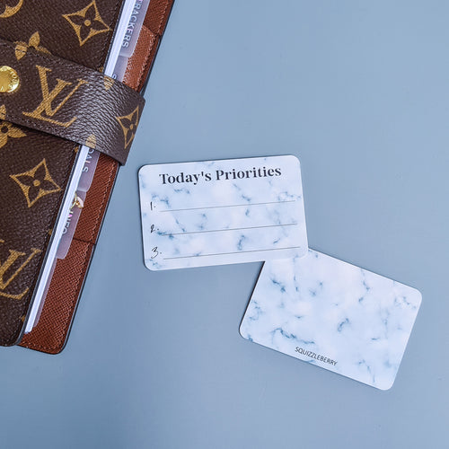 Today's Priorities - Pocket Card | SquizzleBerry