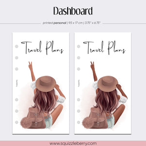 Travel Plans Dashboard - Personal | SquizzleBerry