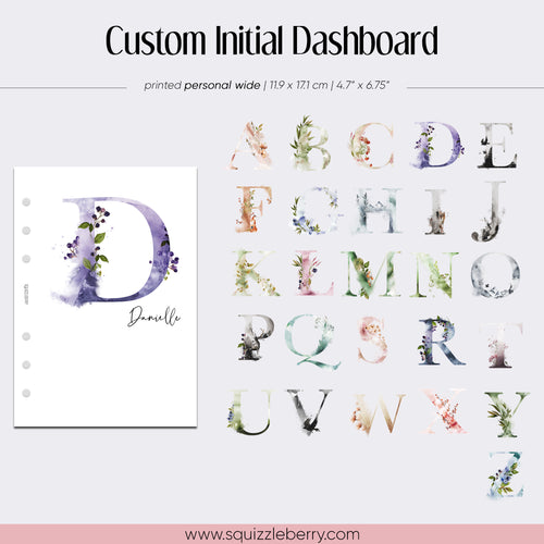 Custom Initial Dashboard - Personal Wide | SquizzleBerry