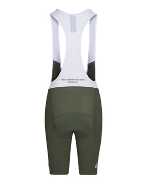 Queen of the Mountain Bib Short. Olive - Women's