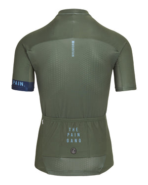 King Of The Mountain Jersey - Olive/Blue. Men's