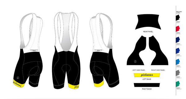 Custom - Pistones Team Bib-Short
