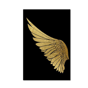 Modern Abstract Golden Wing Canvas Painting