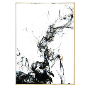 Dynamic Abstract Ink Canvas Painting