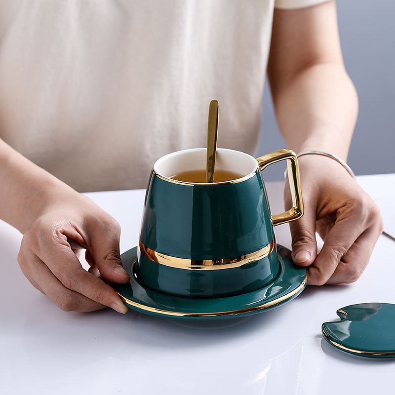 Green Ceramic Coffee Cup - OYRISS