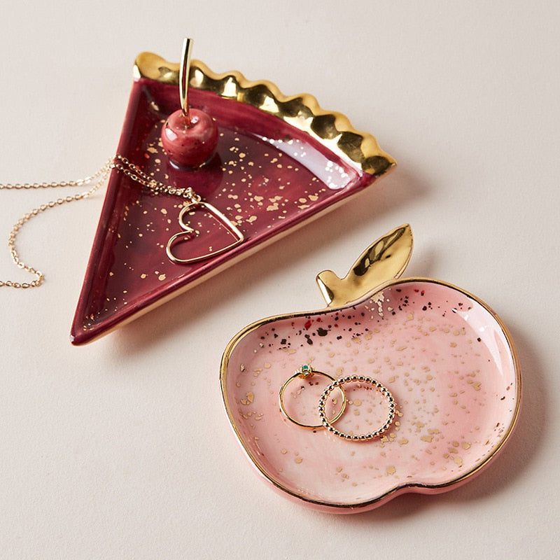 Cake and Apple Small Jewelry Plate - OYRISS