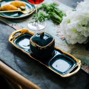 Luxury Emerald Ceramic Set 4 pieces - OYRISS