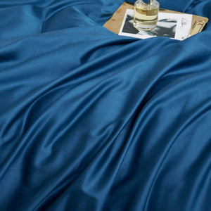 Blue Silky Cotton Bedding Set - OYRISS