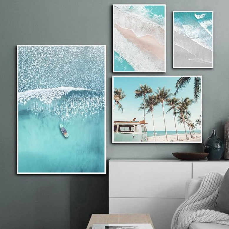Beach Waves Canvas Painting