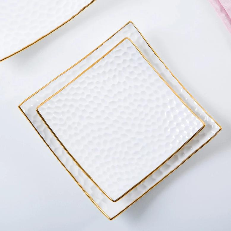 White Bone Square Plate Set - OYRISS