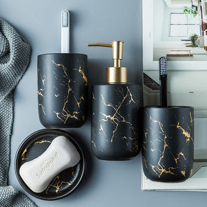 Black Marble Bathroom Set - OYRISS