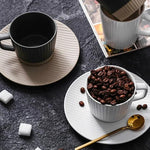 Retro Black and White Ceramic Mug - OYRISS