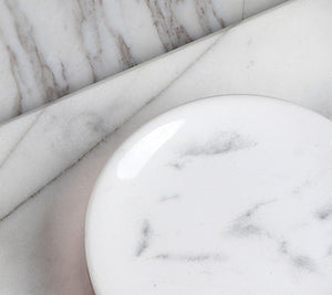 White Marble Bathroom Set 5 pieces - OYRISS