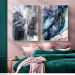 Colorful Ink Abstract Canvas Paintings