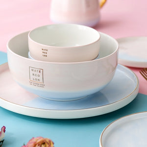 Pink and Blue Gradient Dinnerware Set - OYRISS