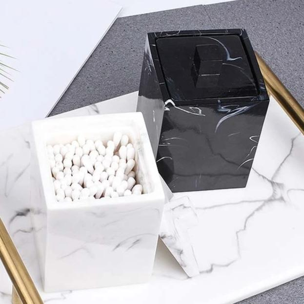 Marble Cotton Swab Box - OYRISS