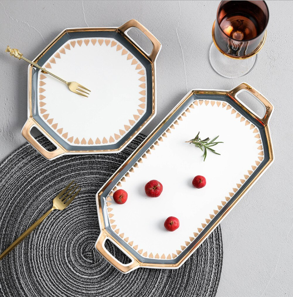 Light Luxury Ceramic Tray - OYRISS