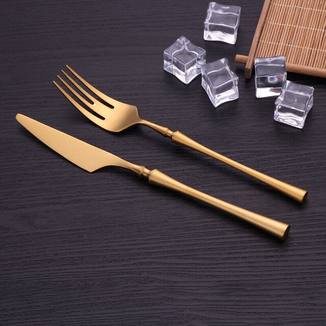 Luxury Gold Cutlery Set - OYRISS