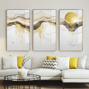 Abstract Golden Canvas Painting - OYRISS