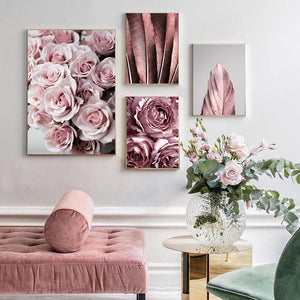 Rose Flower Feather Painting - OYRISS